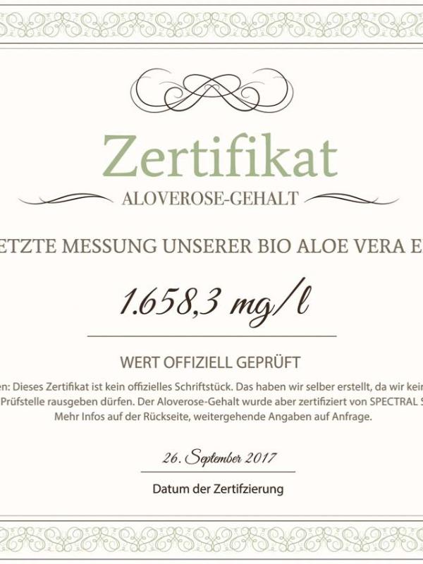 Bio Aloe Vera Direktsaft 500 ml